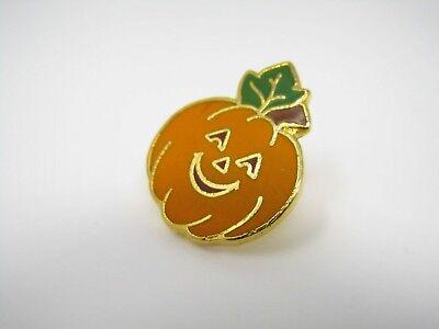Vintage Sammlerstück Pin: Halloween Jack O Laterne Orange Kürbis