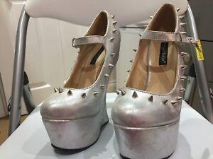 0d1b9302b4 Lady Gaga Shoes - Platform, No Heels Shoes Silver