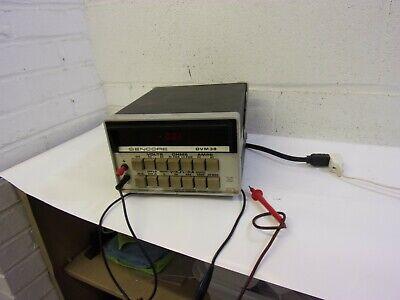 Sencore Dvm38 Multimeter Bench Lab Use Power Probe Unit Digital Test Instruments