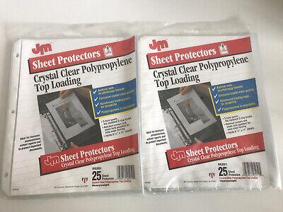 Jm Top Loading Polypropylene Sheet Protectors Clear 2-pack Of 25 Archival Safe