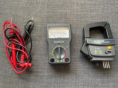 Radio Shack 22-602 12 Range Analog Multimeter W Ac Clamp On Ammeter O5