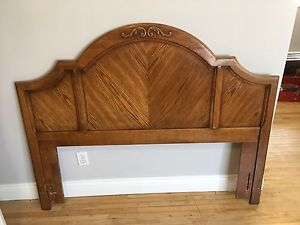 Beautiful solid wood headboard double bed