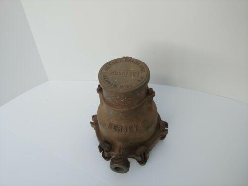 Hersey Sparling Meters 5/8 Bronze Water Meter Vintage Steampunk Prop Complete