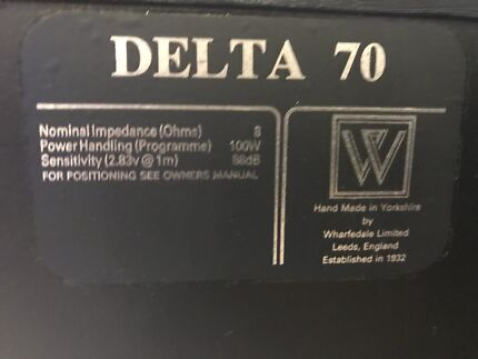 Delta 70 made in ENGLAND Whafedale Speaker Set