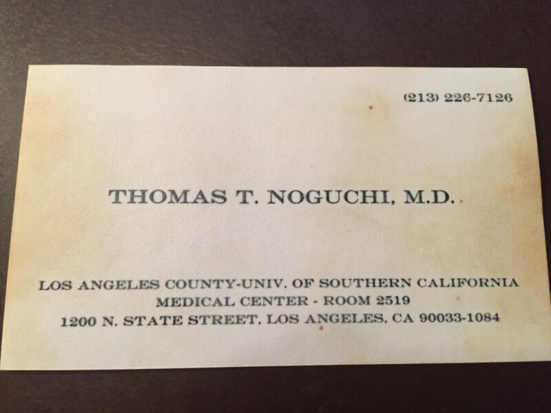 Thomas Noguchi - 1960