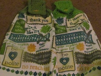 Полотенца, кухонные полотенца TWO HANDMADE CROCHETED