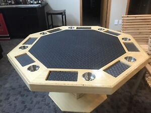 Poker table made of solid wood