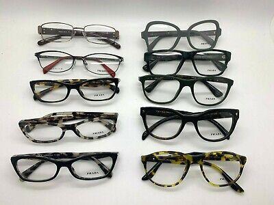 10 Prada Unisex WHOLESALE LOT Black  Green grey Tortoise Cateye eyeglasses (Wholesale Prescription Glasses)