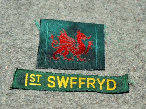 INTERNATIONAL SCOUT POCKET PATCHES…LOT OF 2 PATCHES FROM WALES