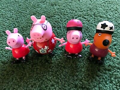 Peppa Pig Cake Toppers (PEPPA PIG CHARACTER PVC FIGURE CAKE TOPPER TOY LOT OF)
