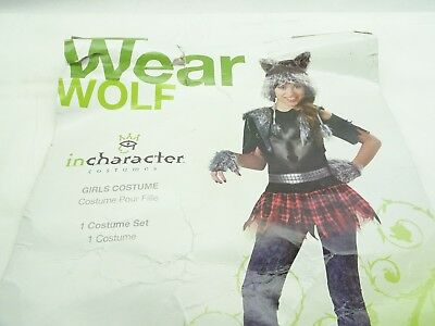 Incharacter Costumes Tween Werewolf Costume Grey/Black/Red Large / AK