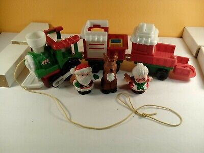 Fisher Price Little People CHRISTMAS TRAIN SANTA  with 3 people J