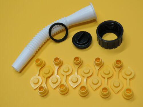 BLITZ Gas Can Spout & Parts Kit incl 10 FREE YELLOW VENT CAPS Fuel Gallon Diesel