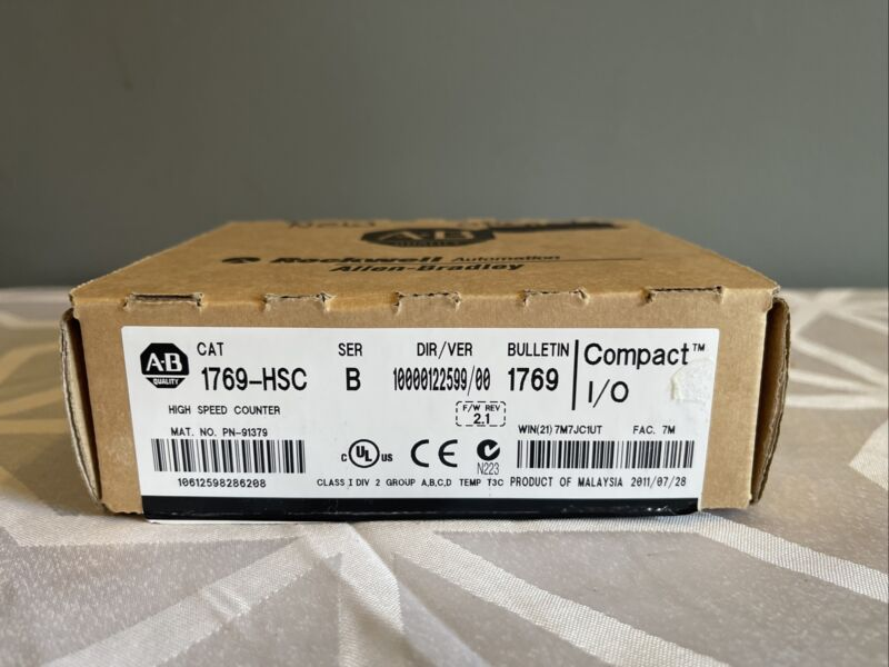 New Allen Bradley 1769-HSC /B CompactLogix 2/4-Ch High Speed Counter
