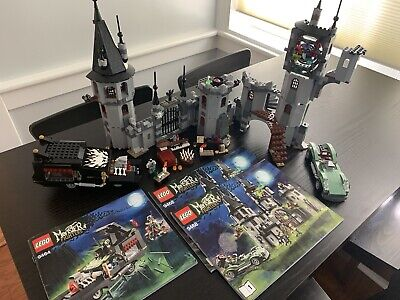 LEGO Monster Fighters Vampyre Castle (9468) and Hearse (9464) Both Incomplete