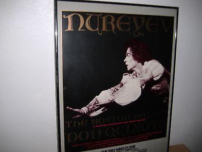 Rudolf Nureyev Boston Ballet 'Don Quixote' Poster -1982 WORLDS FAIR - Framed