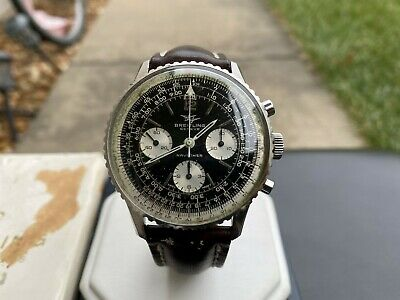 *Exclusive* Vintage 1969 Breitling Navitimer 806 Pilot Watch with Box & Paper Breitling Pilot Watch