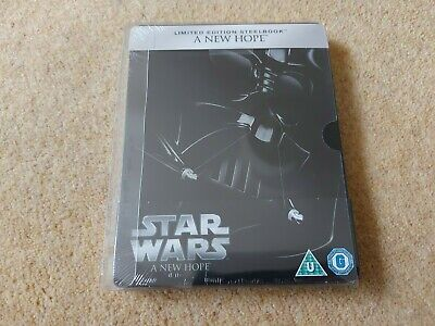 Star Wars: A New Hope UK Edition Steelbook Blu-ray New & Sealed