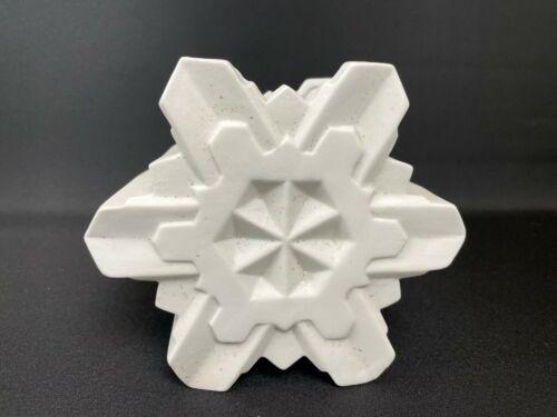 Ceramic White Bisque Snowflake Shaped Planter Christmas Winter Decor