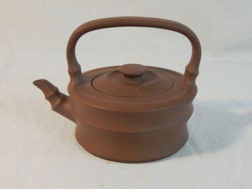 YiXing Zisha Clay Teapot marked China Yixing 中国宜兴扁竹提梁