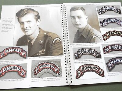 """""""EMBLEMS OF HONOR RANGERS"""" US WW2 KOREA SCROLL PATCH TAB REFERENCE BOOK N/MINT"""