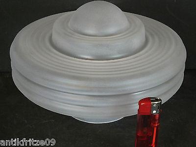 Großer Art Deko Lampenschirm Glasschirm Schirm Mattglas Ufo für Deckenlampen