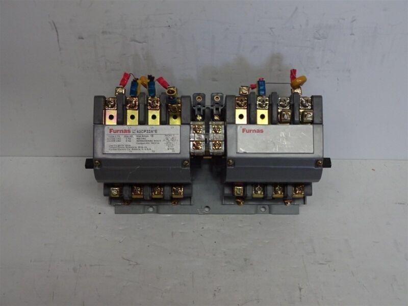 FURNAS 43CP32A*E  43CP32AFE REVERSING CONTACTOR 18 AMP 75D73070F 120V COIL