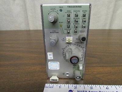 Tektronix 7B80 Oscilloscope Plug-In Time Base Last Cal 1987 Made In USA