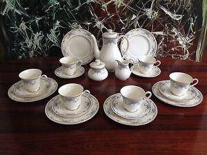 royal doulton bone china juliet edles 21 tlgs kaffeeservice f r 6 personen. Black Bedroom Furniture Sets. Home Design Ideas