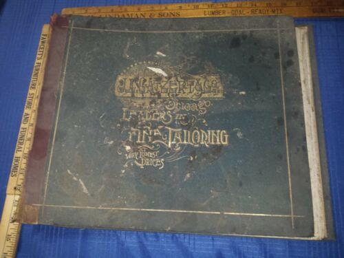 J.L. GATZERT & Co FINE TAILORING Chicago Catalog Suit Material Missing VICTORIAN