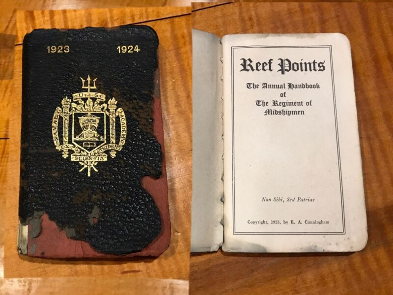 Reef Points Annapolis Md US NAVY Academy Handbook Of Midshipmen Guide 1923-1924