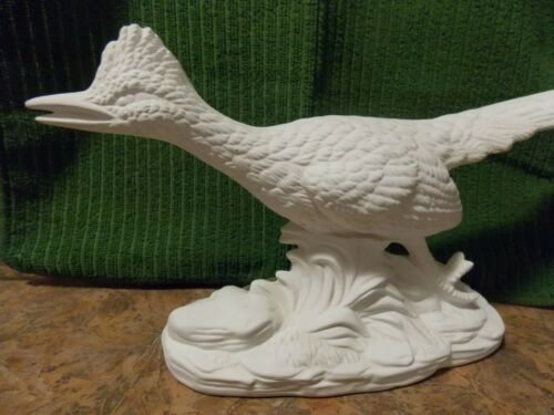 Bisque Ceramic vintage Roadrunner Figurine