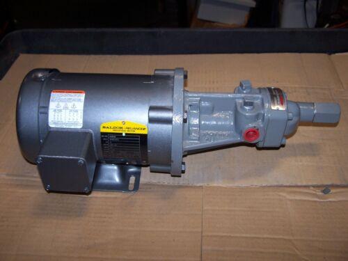 "NEW FLOWSERVE 1/2"" ROTARY GEAR PUMP 1GACM1D  .5 HP 230/460 VAC 1725 RPM 3 PHASE"