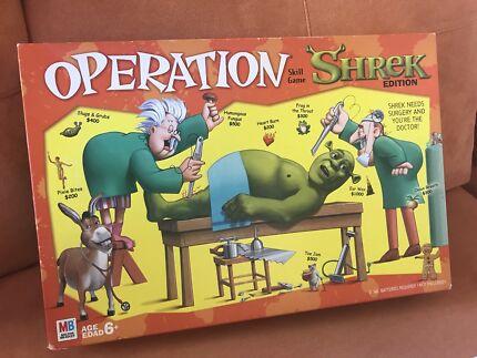 Shrek Operation Board Game