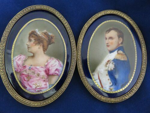 Napoleon Bonaparte & Josephine Hand Painted on Porcelain (1258)