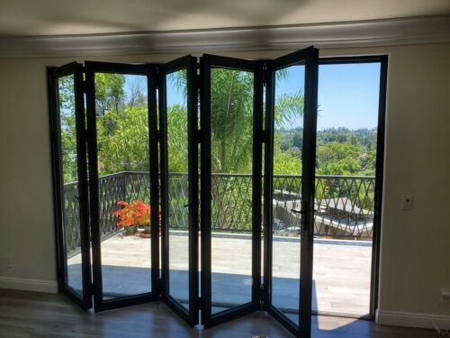 "Eris Bi-fold Doors - Folding patio Door - Size 144"" x 96"""
