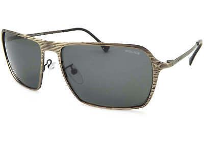 448b4a2da20 POLICE - OUTLINE 2 Sunglasses Striped Antique Bronze  Green Lens SPL168 0KAA