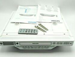 Philips Under Cabinet Kitchen CD Clock AM/FM Radio CD Player & Remote AJ6111/37