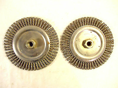 Weiler 7 Stringer Bead Wire Wheel 2 Pieces 58-11 Center New Usa