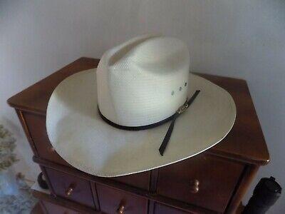 VINTAGE TEXAS BOOT JACK SHANTUNG COWBOY HAT 7 3/8 SUMMER HAT