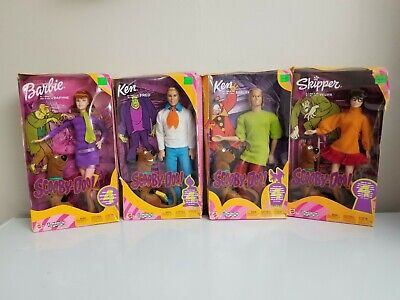 Scooby Doo Barbie Ken Skipper Doll Lot Daphne Shaggy Velma Fred Set