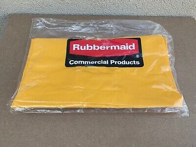 New Rubbermaind Commercial Yellow 51615800 Vinyl 24 Gallon Janitorial Maid Cart