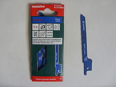 Metabo 5 Säbelsägeblätter Metall 100/ 0,9 mm flexible Bosch AEG (631990000)