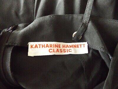 Katharine Hamnett Classic 100% Silk Black Slip Dress. Size 14