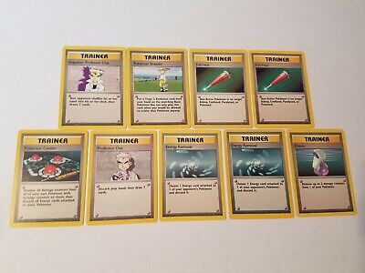 1999 Pokemon Trainer Cards - Lot of 9