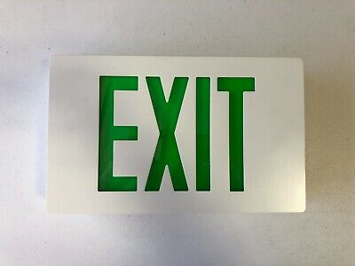 Evenlite Exit Sign Led With Green Letters Ccdsacg01wwre