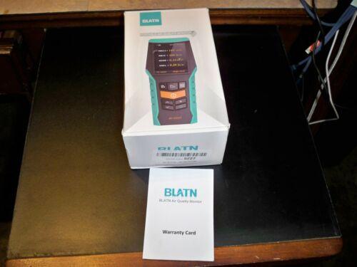 BLATN BR-Smart Air Quality Monitor Detects: PM10 PM2.5, CO2, Formaldehyde & TVOC