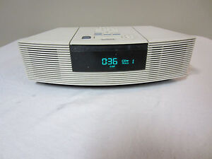 bose wave music system radio cd player awrc 1p alarm clock ipod or iphone ebay. Black Bedroom Furniture Sets. Home Design Ideas
