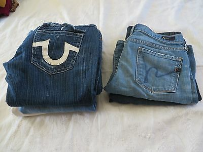 WOMENS JEAN Shorts LOT True Religion LA IDOL Citizens Peoples Liberation Klein