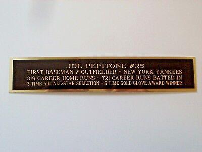 Joe Pepitone Yankees Autograph Nameplate For A Signed Baseball Bat Case 1.5 X 6